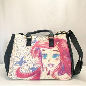 Loungefly Ariel Watercolor Sketch Crossbody Bag